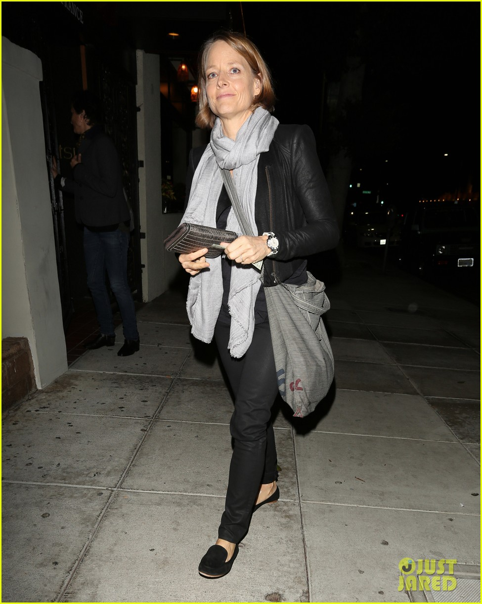 Actress Jodie Foster seen leaving the Matsuhisa Restaurant after having a dinner date with her girlfriend in Beverly Hills