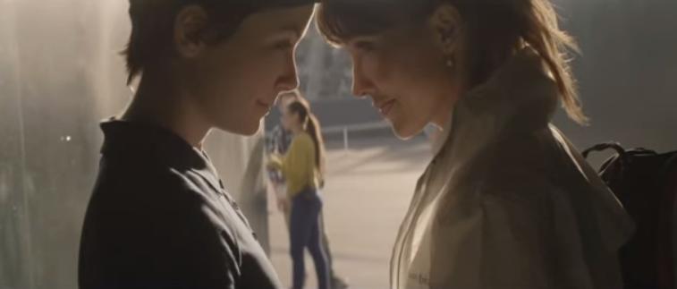 """Escena de """"40-Love"""", el corto lésbico de los helados Cornetto."""