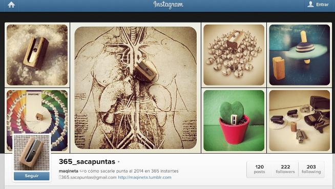 Perfil de Instagram de @365_sacapuntas