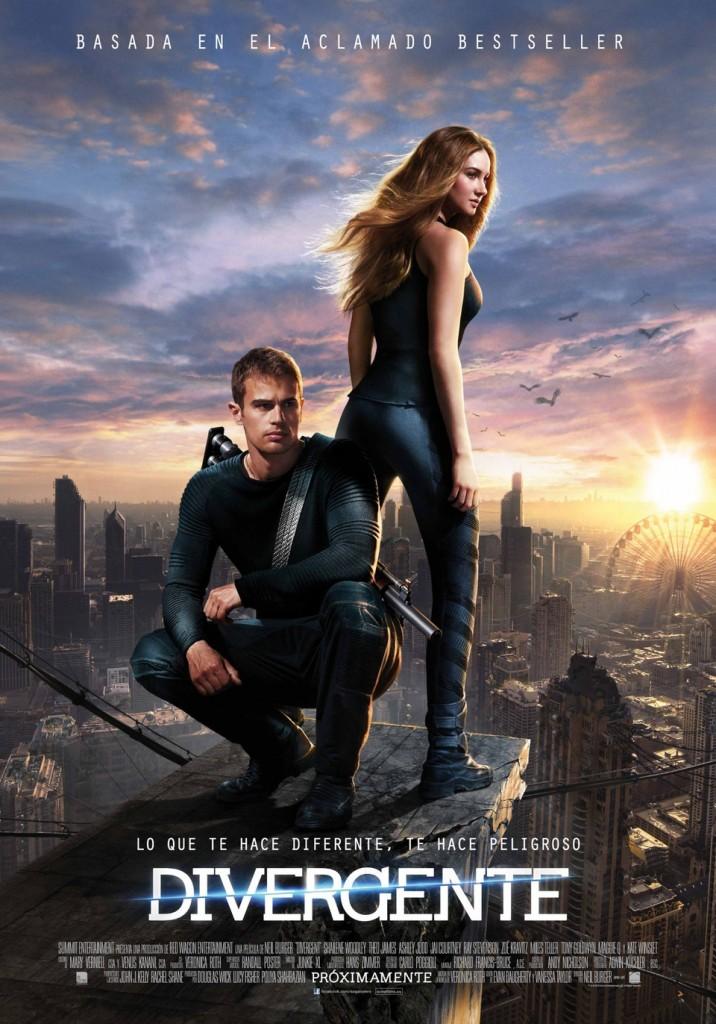 Shailene Woodley en el cartel oficial de la película en España