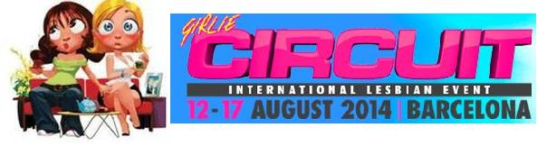 Logo CIRCUIT GIRLS lesbiana.es  2014