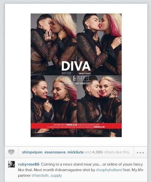 Ruby y Phoebe son la próxima portada de la revista DIVA