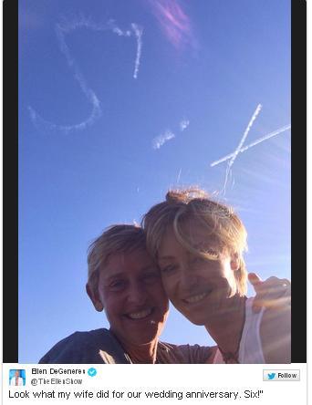Como cada año Ellen y Portia celebraron su aniversario de boda por todo lo alto.