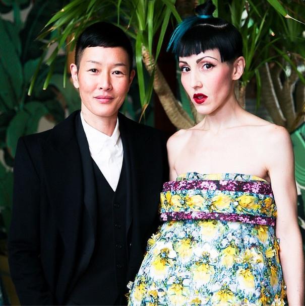 Jenny Shimizu y su novia Michelle Harper.