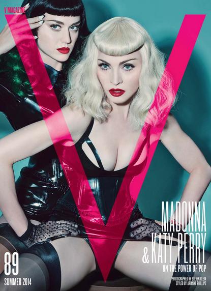 Portada del número 89 de la revista V Magazine con Madonna y Katy Perry.
