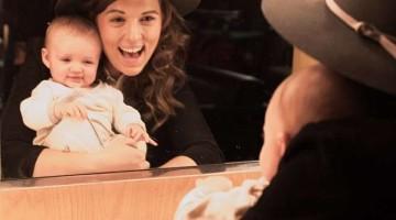 Brandi y su hijita Evangeline