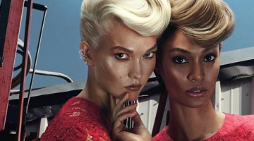 karlie kloss y joan smalls red