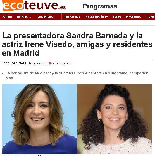 Sandra barneda e irene visedo compa eras de piso en madrid portal exclusivo - Piso sandra ...