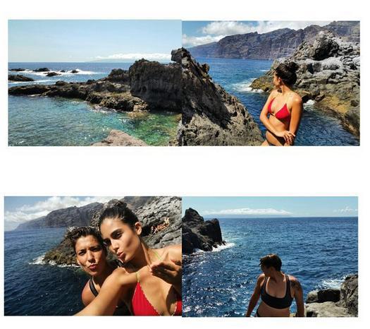 Antes y después del Circuit, Patricia Yurena y su chica, Vanesa Klein, han tirado para casa y han ejercido de embajadoras de lujo para las islas Canarias.