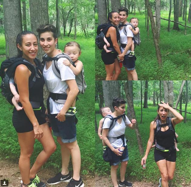 melanie y Vanessa Roy, las lesbimamás más famosas de instagram, no se han separado se sus babies, ni para salir de acampada.