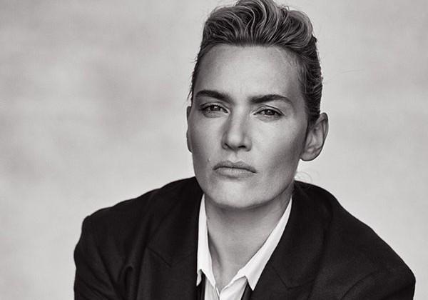 Espectacular Kate Winslet en plan 'tomboy' en L'Uomo Vogue